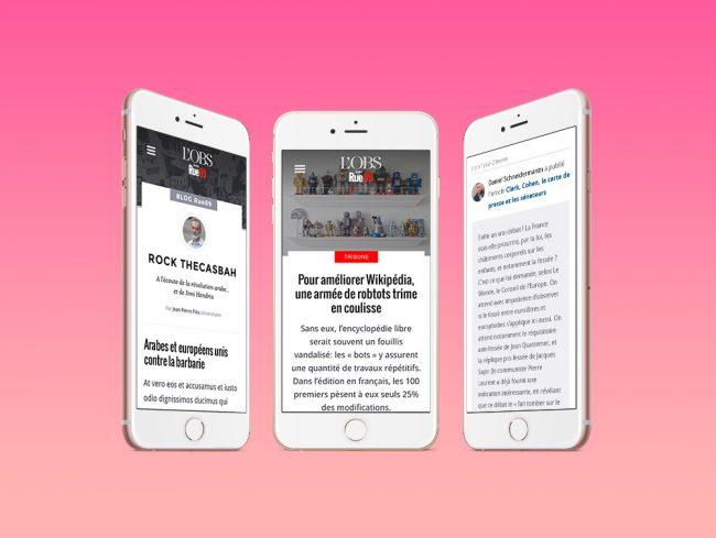 Design Editorial - L'Obs Rue89